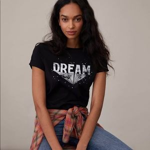 NWT Anthropologie Dream Cotton Graphic Tee Shirt
